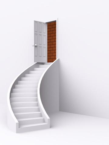 Digitally Generated Image「stair with open door. 3d」:スマホ壁紙(7)