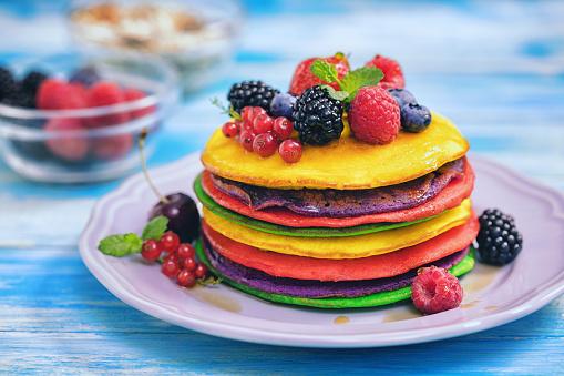 Kiwi「Homemade Colorful Pancakes」:スマホ壁紙(18)
