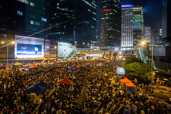 Occupy Central「Hong Kong Sit In Continues As Negotiations Break Down」:写真・画像(7)[壁紙.com]