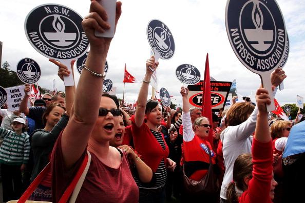 Employment And Labor「Mass Union Protest Disrupts Sydney CBD」:写真・画像(0)[壁紙.com]