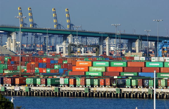Cargo Container「Labor Dispute Closes West Coast Ports」:写真・画像(7)[壁紙.com]