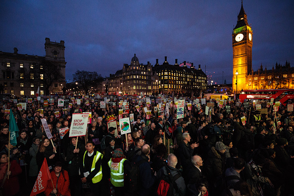 Visit「Stop Trump Protesters Demonstrate As MPs Debate State Visit Petition」:写真・画像(2)[壁紙.com]
