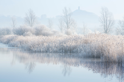 Frost「Frosty morning Glastonbury Tor, Somerset」:スマホ壁紙(11)