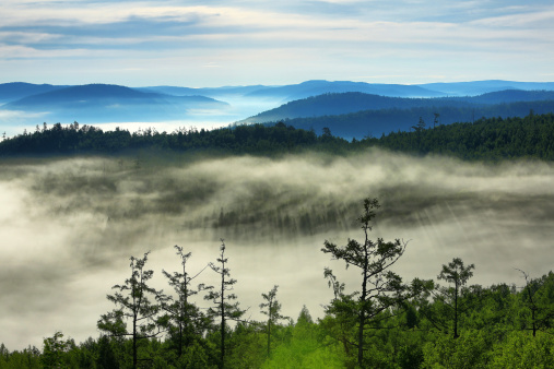 Heilongjiang Province「Forest and mountains」:スマホ壁紙(7)