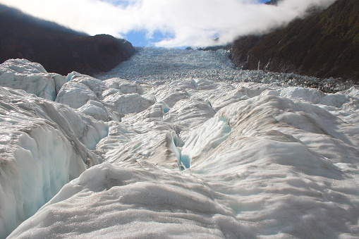 Fox Glacier「Walking on Majestic Franz Josef Glacier crevasses in idyllic Southern Alps, Westland national park, South New Zealand」:スマホ壁紙(10)