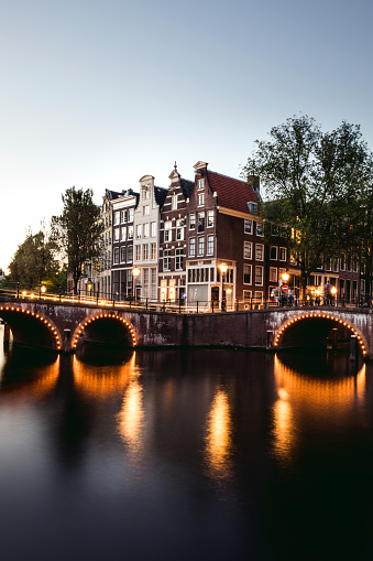 Amsterdam「Typical bridge on the canals in the central Amsterdam」:スマホ壁紙(11)