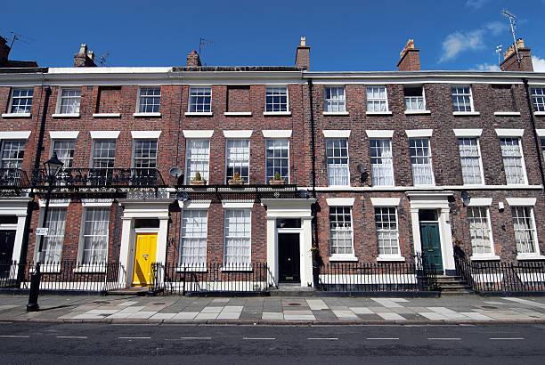 Typical british houses:スマホ壁紙(壁紙.com)