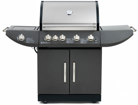 Barbecue Grill「Propane Barbeque Grill on white」:スマホ壁紙(18)