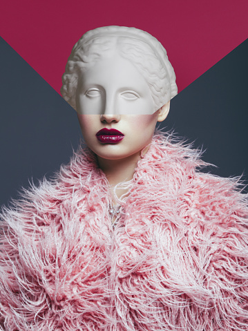 Fashion Model「Collage with woman and plaster head」:スマホ壁紙(9)