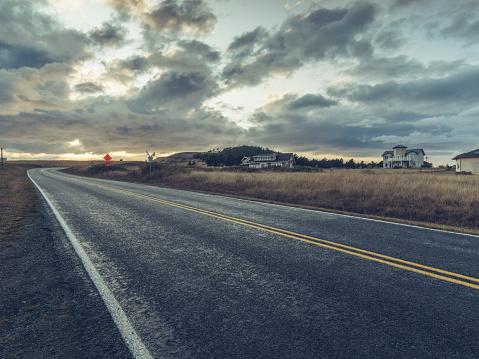 Empty Road「Road in the San Juan Islands」:スマホ壁紙(11)