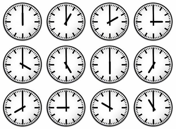Twelve hours clock face:スマホ壁紙(壁紙.com)