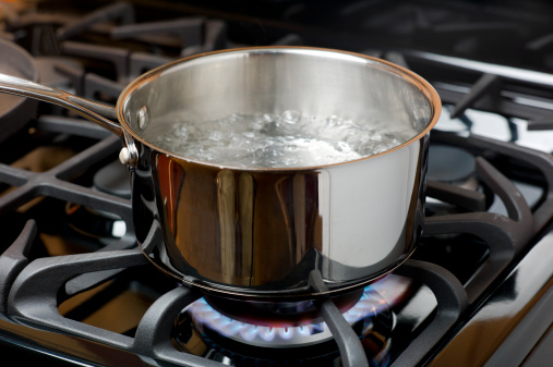 Boiling「Water Boiling on a Gas Stove, stainless pot.」:スマホ壁紙(1)