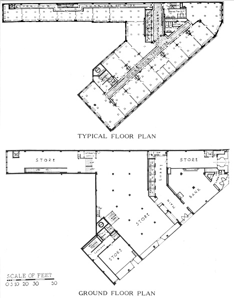 Office Building Exterior「Floor Plans, The Genesee Building, Buffalo, New York, 1924」:写真・画像(18)[壁紙.com]