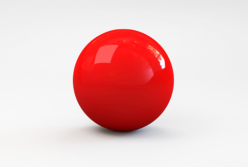 Sports Competition Format「A shiny red ball with shadow on a white background」:スマホ壁紙(3)
