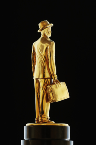 Trophy - Award「gold business man statue」:スマホ壁紙(7)