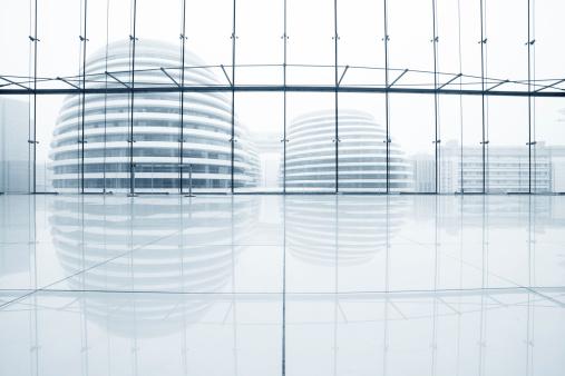 Futuristic「hall of modern office」:スマホ壁紙(18)