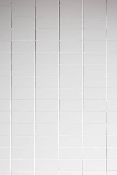 White tile wall texture background:スマホ壁紙(壁紙.com)