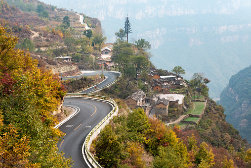 Hairpin Curve「Henan linzhou city grand canyon switchbacks」:スマホ壁紙(4)