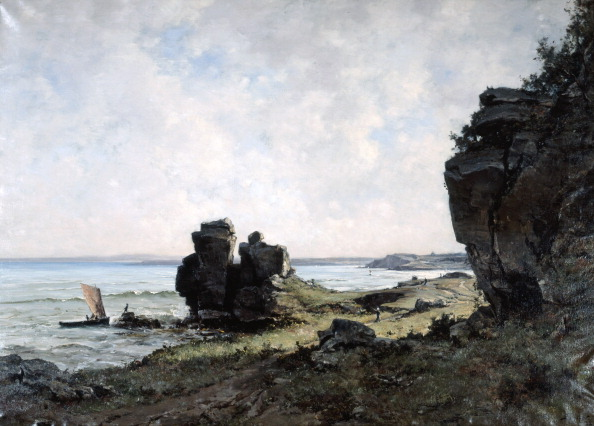 Stack Rock「'A Beautiful Morning at the Coast of Brittany', 1882. Artist: Emmanuel Lansyer」:写真・画像(16)[壁紙.com]
