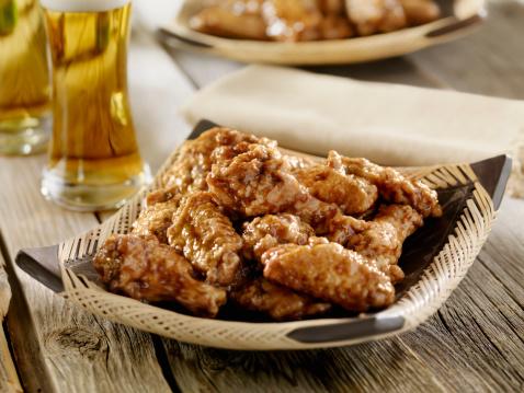 Chicken Wing「Honey Garlic Chicken Wings with a Beer」:スマホ壁紙(18)