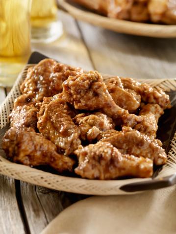 Chicken Wing「Honey Garlic Chicken Wings with a Beer」:スマホ壁紙(6)