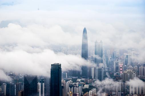 かすみ「中国深センの街並み」:スマホ壁紙(12)