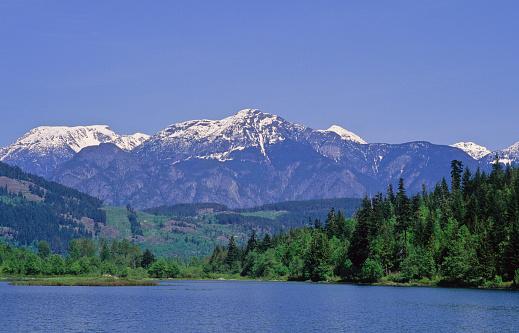 Pemberton「Cayoosh Mountain Range Rises Behind One Mile Lake, Near Pemberton」:スマホ壁紙(16)