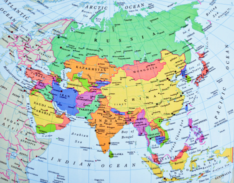Iran「Asia map」:スマホ壁紙(3)
