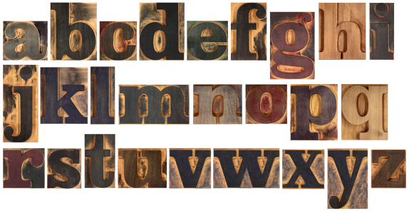 Sequential Series「Wooden typeset alphabet」:スマホ壁紙(18)