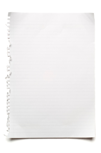 Adhesive Note「Blank lined sheet of paper on white」:スマホ壁紙(4)