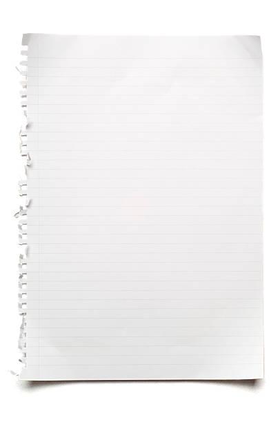 Blank lined sheet of paper on white:スマホ壁紙(壁紙.com)