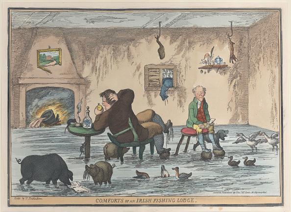 Etching「Comforts Of An Irish Fishing Lodge」:写真・画像(2)[壁紙.com]