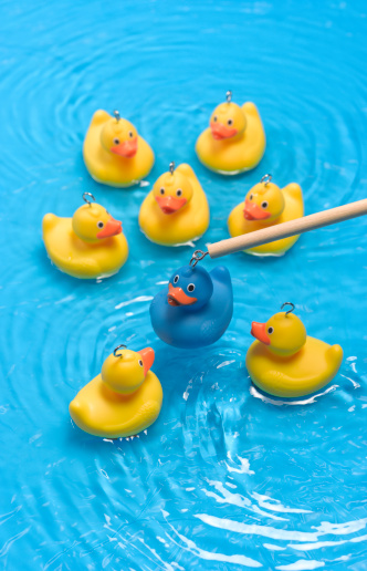 Choosing「Rubber duck standing out from the crowd」:スマホ壁紙(7)