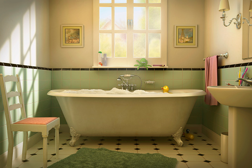 Soap「Rubber duck floating in bubble bath」:スマホ壁紙(7)