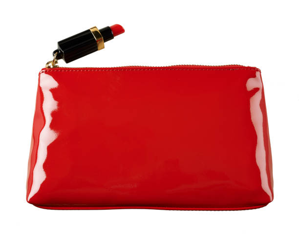 A cut out beauty product image of a red handbag or make-up bag:スマホ壁紙(壁紙.com)