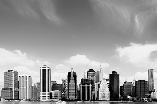 Auto Post Production Filter「Manhattan Financial District,NYC.Black And White」:スマホ壁紙(4)