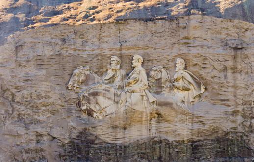 Stone Mountain - Georgia「USA, Georgia, Stone Mountain, Bas-relief representing Confederate leaders」:スマホ壁紙(0)
