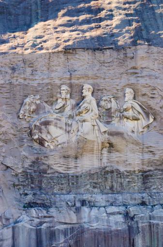 Stone Mountain - Georgia「USA, Georgia, Stone Mountain, Bas-relief representing Confederate leaders」:スマホ壁紙(6)