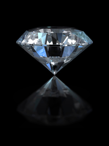 Crystal「Large diamond with reflection set against black background」:スマホ壁紙(7)