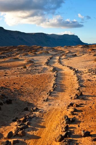 La Graciosa - Canary Islands「Trail to Caleta del Sebo」:スマホ壁紙(5)