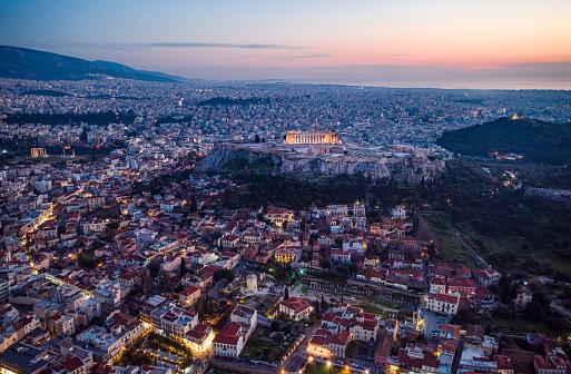 Financial District「Athens Acropolis at dusk」:スマホ壁紙(12)