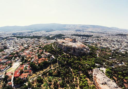 歴史「アテネのアクロポリスの空からの眺め」:スマホ壁紙(16)