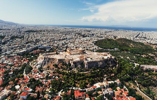 歴史「アテネのアクロポリスの空からの眺め」:スマホ壁紙(15)