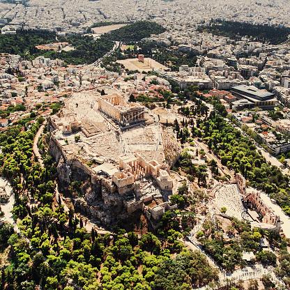 Temple「アテネのアクロポリスの空からの眺め」:スマホ壁紙(12)