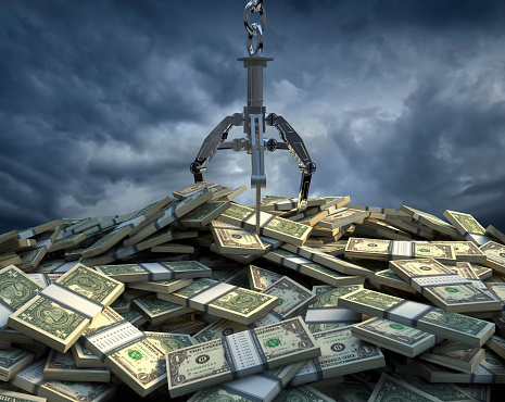 Hope - Concept「Claw grabbing at bundles of one dollar bills」:スマホ壁紙(13)