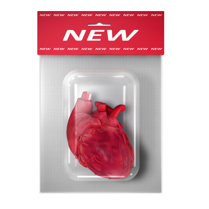 Heart「New (Human) Heart in a blister pack on white」:スマホ壁紙(9)