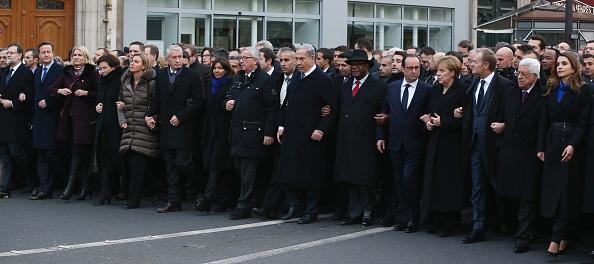 2015 Republican Marches「Mass Unity Rally Held In Paris Following Recent Terrorist Attacks」:写真・画像(2)[壁紙.com]