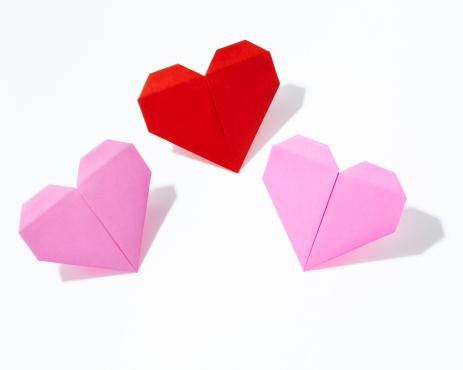 Paper Craft「Heart shaped Origami」:スマホ壁紙(18)