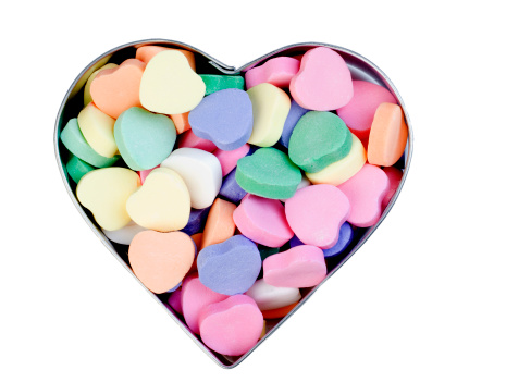 バレンタイン「ハート型キャンディー」:スマホ壁紙(4)