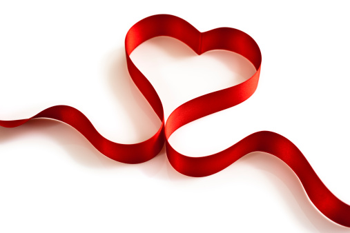 バレンタイン「ハート型リボン」:スマホ壁紙(0)